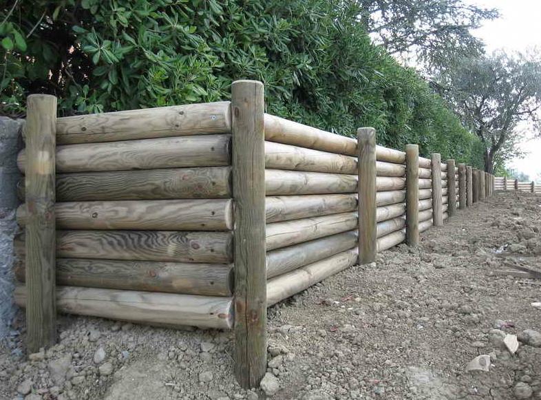 contenimento scarpate in legno